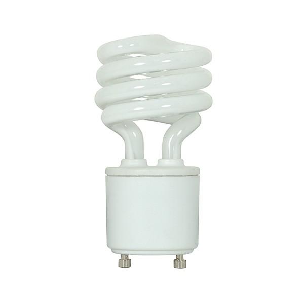 13 watt; Mini Spiral Compact Fluorescent; 2700K; 82 CRI; GU24 base; 120 volts