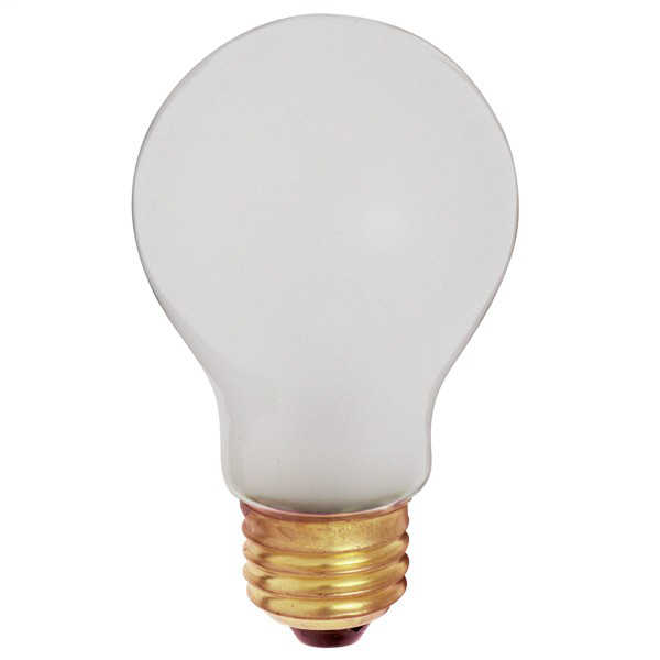 100 watt A19 Incandescent; Frost; 5000 Average rated hours; 960 lumens; Medium base; 130 volts; Shatter Proof; 2/Pack