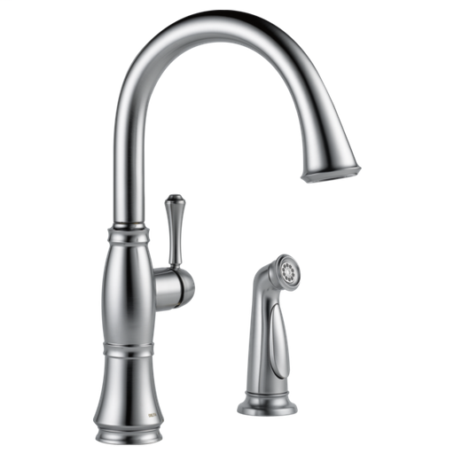 Cassidy Single Handle Kitchen Faucet with Spray - Arctic Stainless