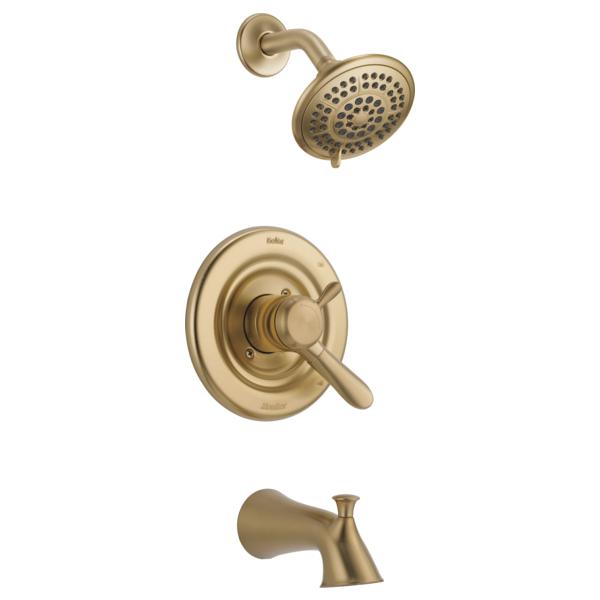 DELTA® T17438-CZ Monitor® 17 Tub and Shower Trim, 1.75 gpm Shower, Brilliance® Champagne Bronze