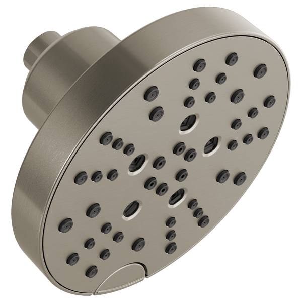 H2Okinetic 5-Setting Contemporary Raincan Shower Head - Stainless