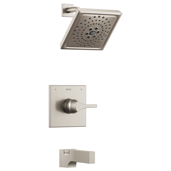 DELTA® T14474-SS Monitor® 14 Tub and Shower Trim, 1.75 gpm Shower, Brilliance® Stainless Steel