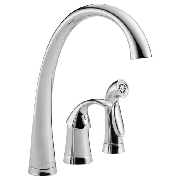 Pilar Single Handle Kitchen Faucet with Spray - Chrome