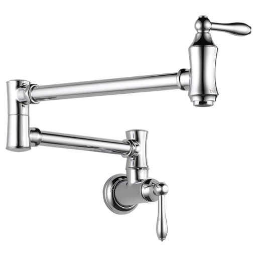 Delta Traditional Wall Mount Pot Filler - Chrome