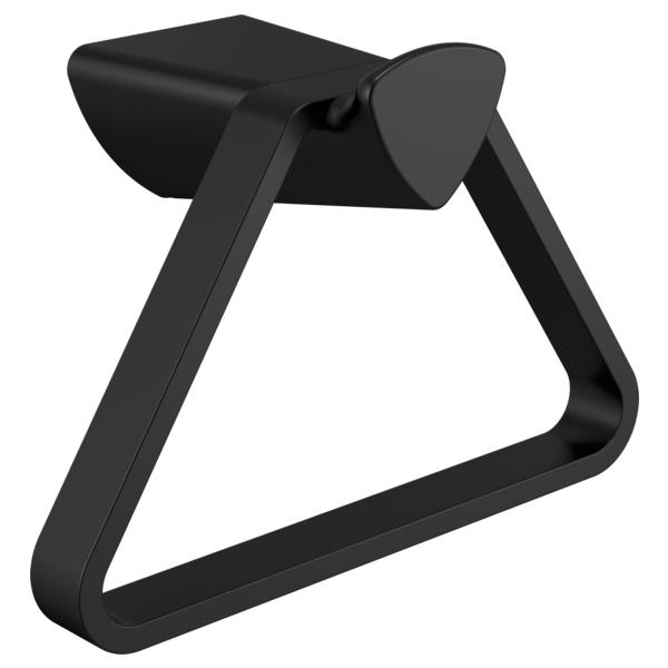 Zura Triangular Towel Holder - Matte Black