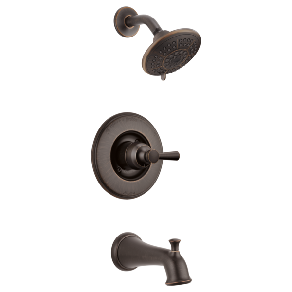 DELTA® T14493-RB Monitor® 14 1-Function Tub and Shower Faucet Trim, 1.75 gpm Shower, Venetian Bronze