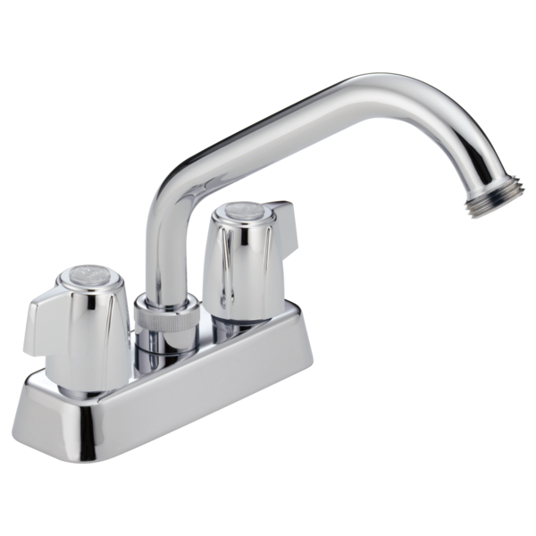 Classic Two Handle Laundry Faucet - Chrome