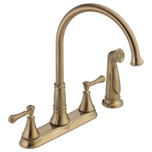Cassidy Two Handle Kitchen Faucet with Spray - Champagne Bronze