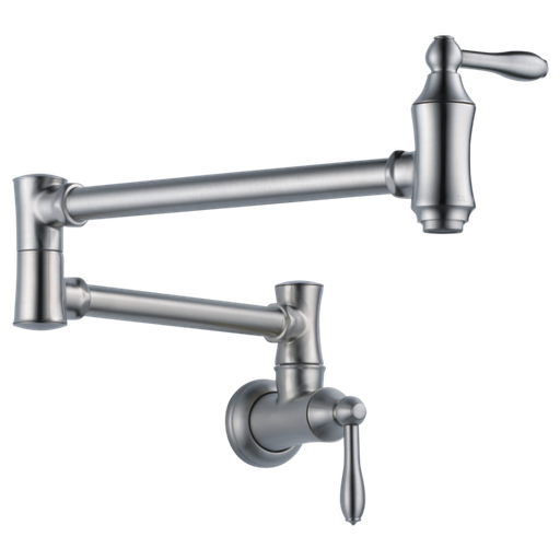 Delta Traditional Wall Mount Pot Filler - Arctic Stainless