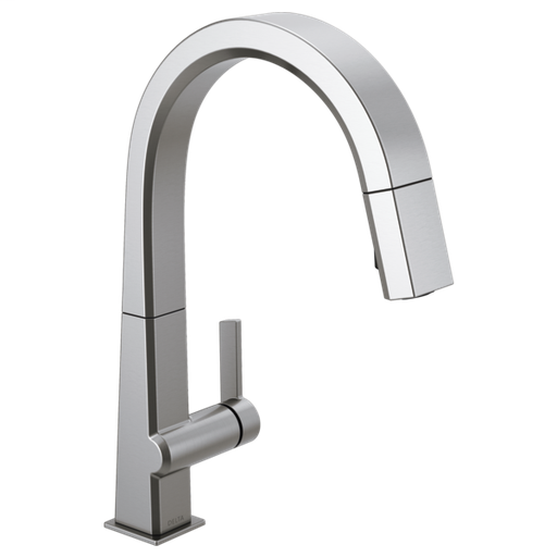 Pivotal Single Handle Pull Down Kitchen Faucet - Arctic Stainless