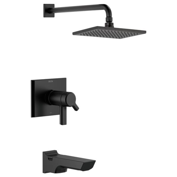 DELTA® T17T499-BL TempAssure® 17T Tub and Shower Faucet Trim, 2.5 gpm Shower, Matte Black