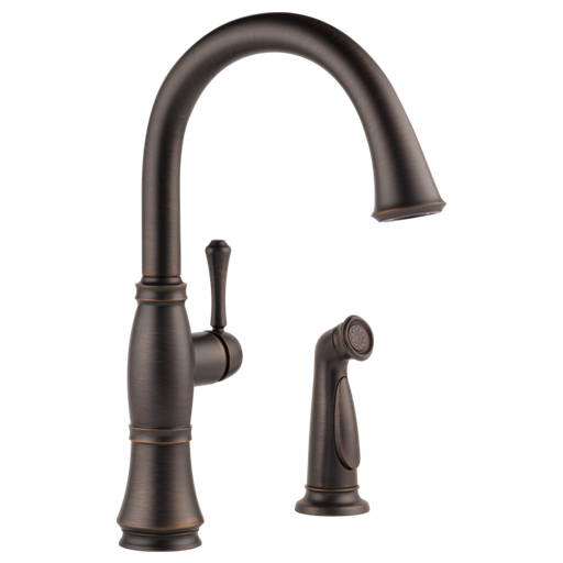 Cassidy Single Handle Kitchen Faucet with Spray - Venetian Bronze
