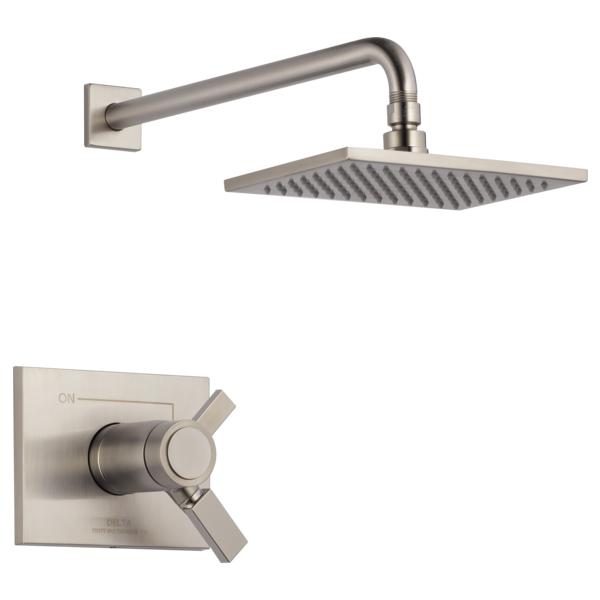 DELTA® T17T253-SS-WE TempAssure® 17T Shower Trim, 1.75 gpm Shower, Brilliance® Stainless Steel