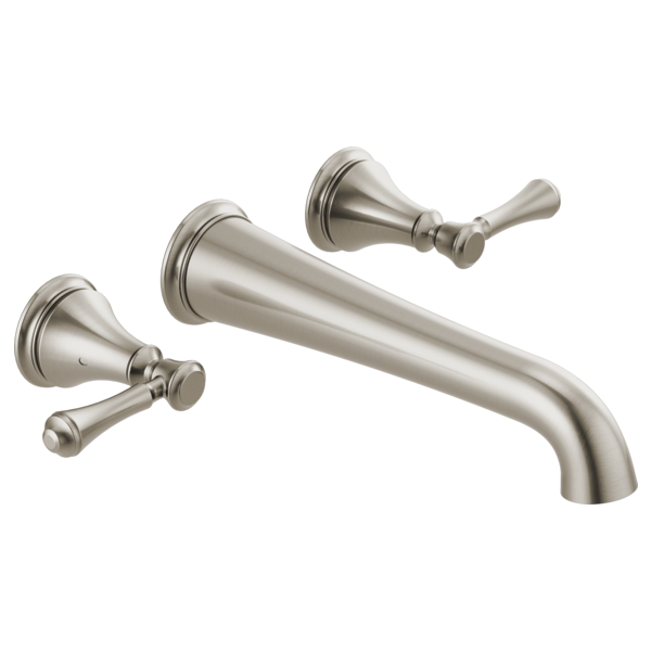 DELTA® T5797-SSWL Tub Filler, Cassidy™, 8 in Center, Stainless, 2 Handles, Import