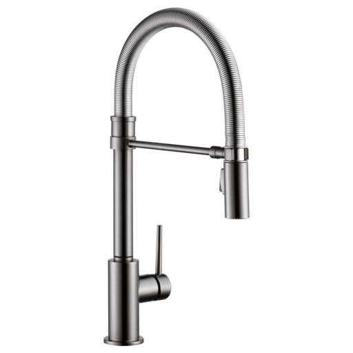Trinsic Single Handle Pull-Down Kitchen Faucet With Spring Spout - Black Stainless