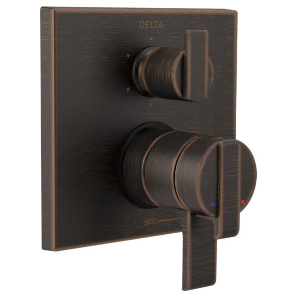 DELTA® T27967-RB Monitor® 17 6-Setting Angular Modern Valve Trim, Venetian Bronze