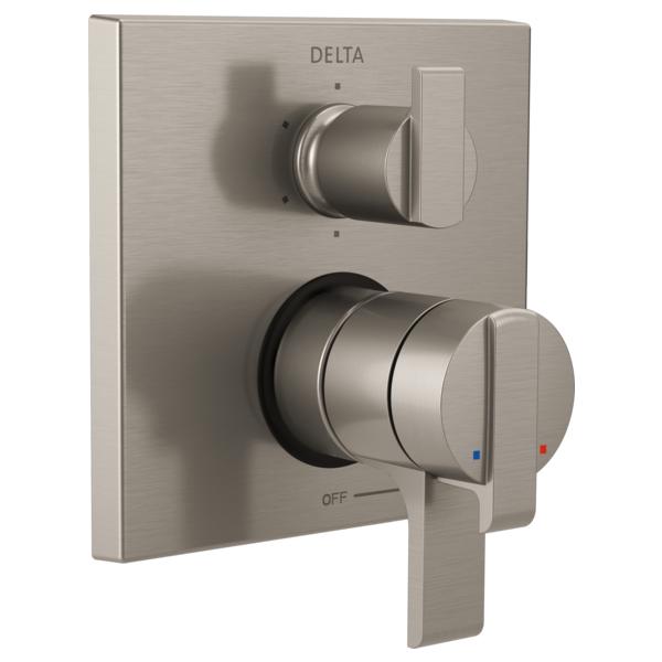 DELTA® T27967-SS Monitor® 17 6-Setting Angular Modern Valve Trim, Stainless Steel