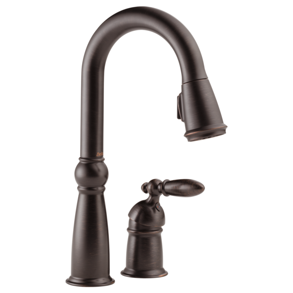 Victorian Single Handle Pull-Down Bar / Prep Faucet - Venetian Bronze