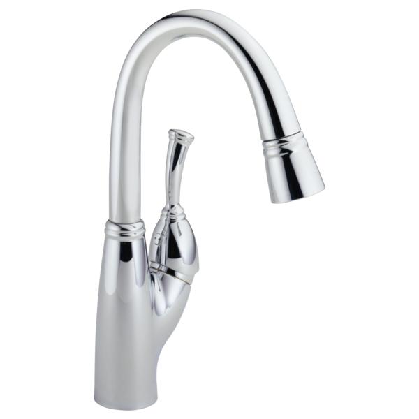 Allora Single Handle Pull-Down Bar / Prep Faucet - Chrome