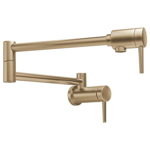 Delta Contemporary Wall Mount Pot Filler - Champagne Bronze