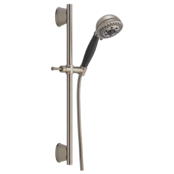 H2Okinetic 5-Setting Slide Bar Hand Shower - Stainless
