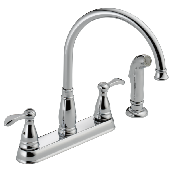 Porter Two Handle Kitchen Faucet with Spray - Chrome