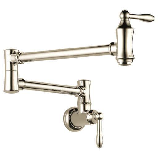 Delta Traditional Wall Mount Pot Filler - Polished Nickel