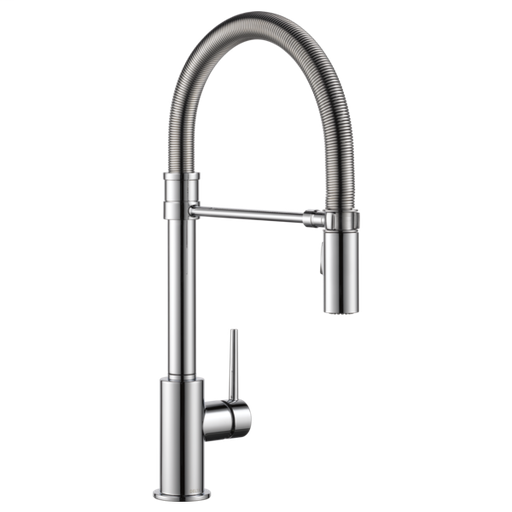 Trinsic Single Handle Pull-Down Kitchen Faucet With Spring Spout - Chrome