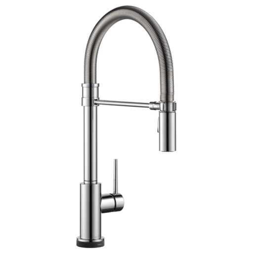 Trinsic Single Handle Pull-Down Spring Spout Kitchen Faucet with Touch2O Technology - Chrome