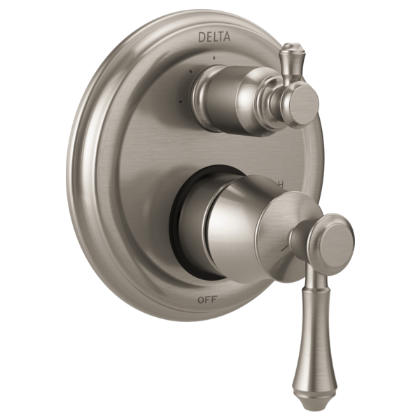 DELTA® T24897-SS Monitor® 14 3-Setting Traditional Valve Trim, Stainless Steel