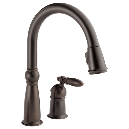 Victorian Single Handle Pull-Down Kitchen Faucet - Venetian Bronze
