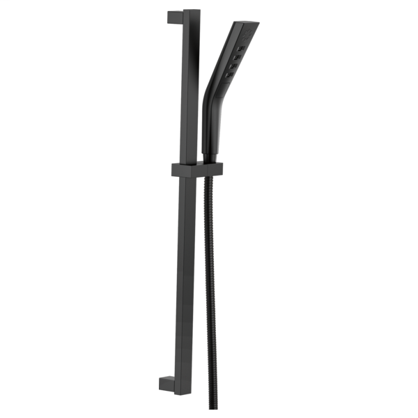 H2Okinetic 3-Setting Slide Bar Hand Shower - Matte Black