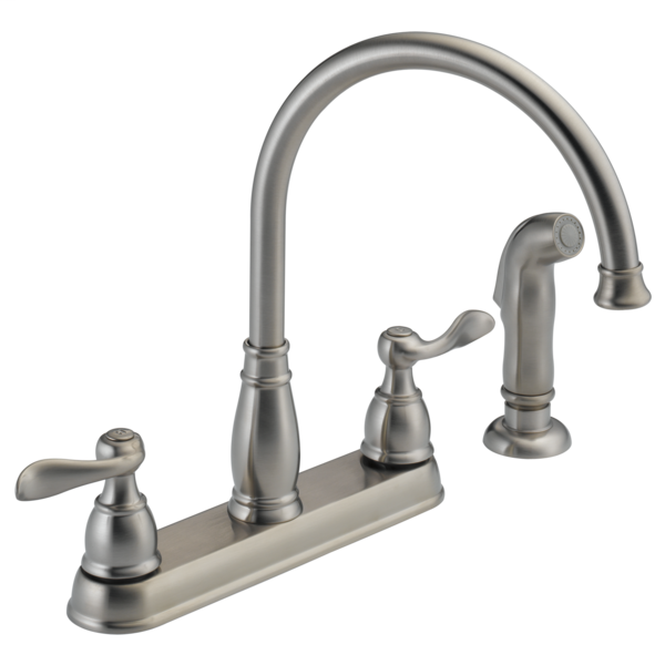Windemere Two Handle Kitchen Faucet - Stainless