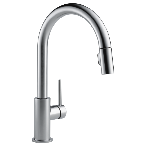 Trinsic Single Handle Pull-Down Kitchen Faucet - Arctic Stainless