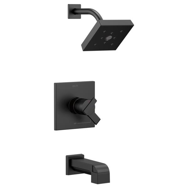 DELTA® T17467-BL Monitor® 17 Tub and Shower Trim, 1.75 gpm Shower, Matte Black