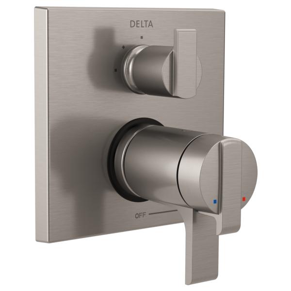 DELTA® T27T867-SS TempAssure® 17T Angular Modern Valve Trim, Stainless Steel