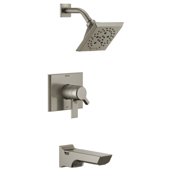DELTA® T17499-SS Monitor® 17 Tub and Shower Faucet Trim, 1.75 gpm Shower, Stainless Steel
