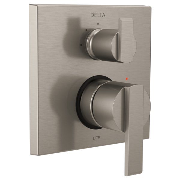 DELTA® T24867-SS Monitor® 14 3-Setting Angular Modern Valve Trim, Stainless Steel