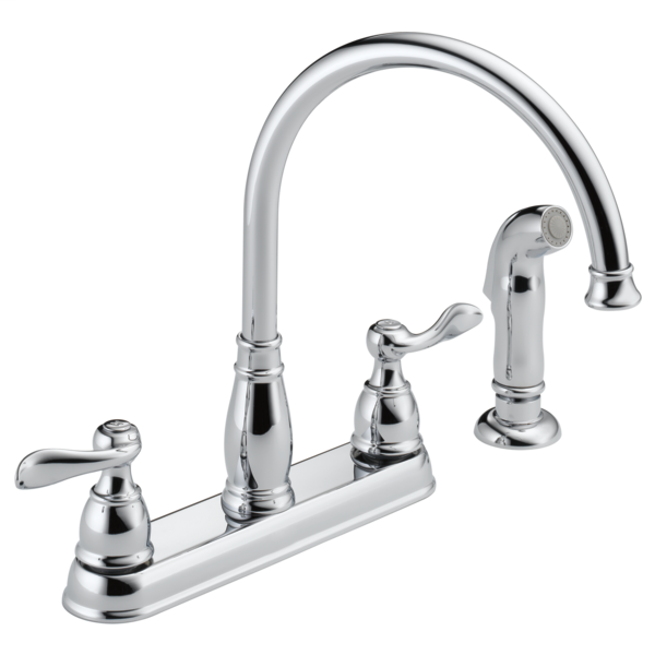 Windemere Two Handle Kitchen Faucet - Chrome
