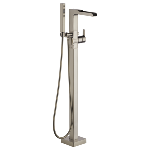 DELTA® T4768-SSFL Ara® Tub Filler, 2 gpm Flow Rate, Brilliance® Stainless Steel, 1 Handles, Domestic, Commercial