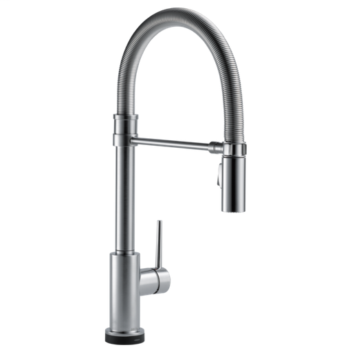 Trinsic Single Handle Pull-Down Spring Spout Kitchen Faucet with Touch2O Technology - Arctic Stainless