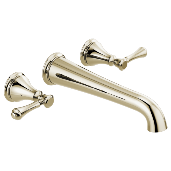 DELTA® T5797-PNWL Tub Filler, Cassidy™, 8 in Center, Polished Nickel, 2 Handles, Import