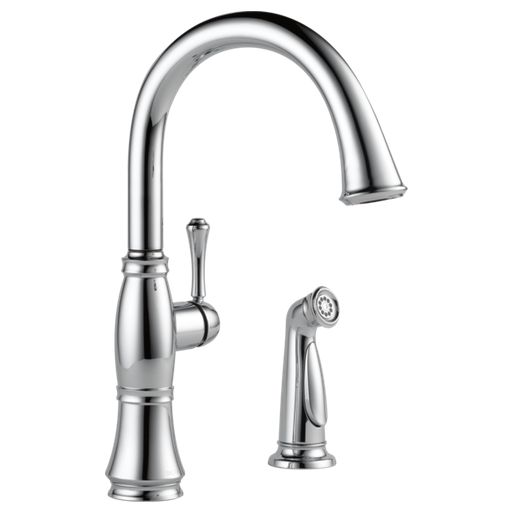 Cassidy Single Handle Kitchen Faucet with Spray - Chrome