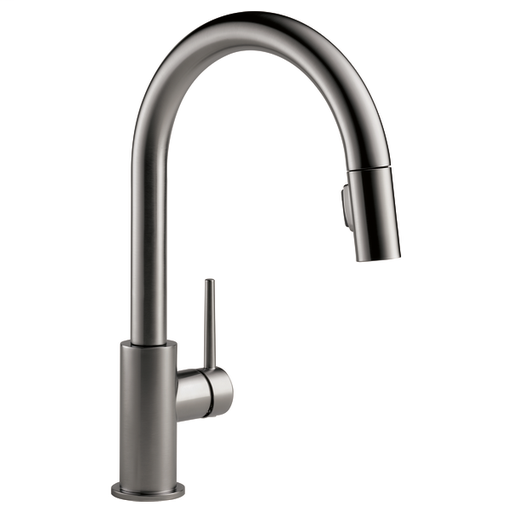 Trinsic Single Handle Pull-Down Kitchen Faucet - Black Stainless