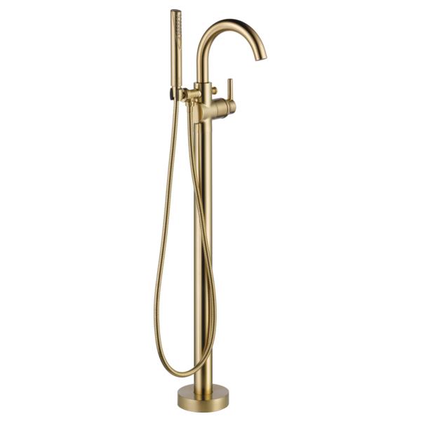 DELTA® T4759-CZFL Trinsic®/Compel® Contemporary Tub Filler Trim, 6 Flow Rate, Brilliance® Champagne Bronze, 1 Handles, Domestic