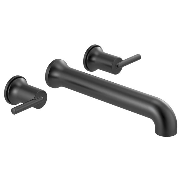 DELTA® T5759-BLWL Trinsic® Tub Filler, 8 in Center, Matte Black, 2 Handles, Import