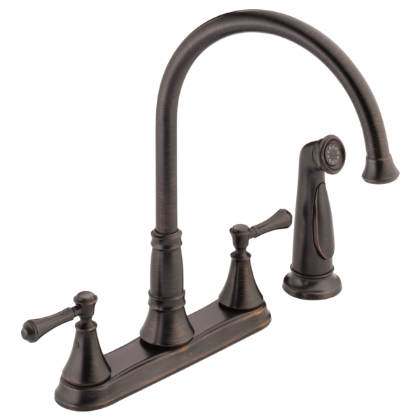 Cassidy Two Handle Kitchen Faucet with Spray - Venetian Bronze