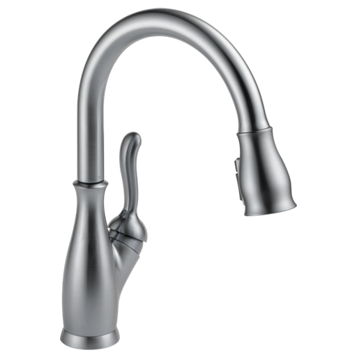 Leland Single Handle Pull-Down Kitchen Faucet with ShieldSpray Technology - Arctic Stainless
