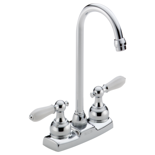 Classic Two Handle Bar / Prep Faucet - Less Handles - Chrome