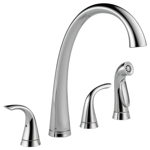 Pilar Two Handle Widespread Kitchen Faucet with Spray - Chrome
